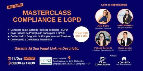 MASTERCLASS - Curso de Compliance e LGPD em Campinas - SP ingressos