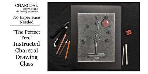 """Charcoal Drawing Event """"Perfect Tree"""" in Madison"""
