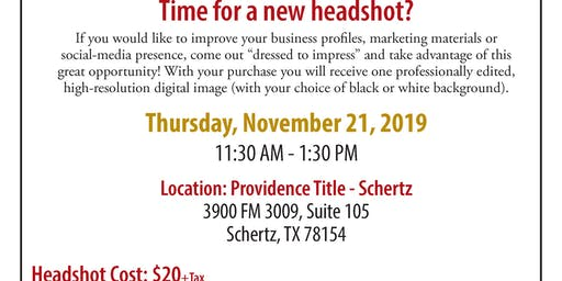 Time For A New Headshot? ($20 +Tax)