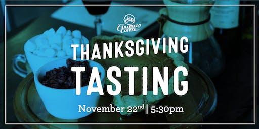 Analog Thanksgiving Tasting | Nov. 22nd @ 5:30pm