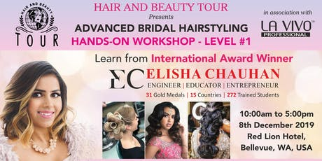Advanced Bridal Hairstyling Workshop(Level #1) tickets