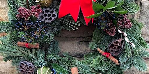 Christmas Wreath Workshop with The Flower Shop, Ossett