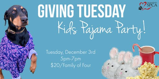 Giving Tuesday Kids Pajama Party