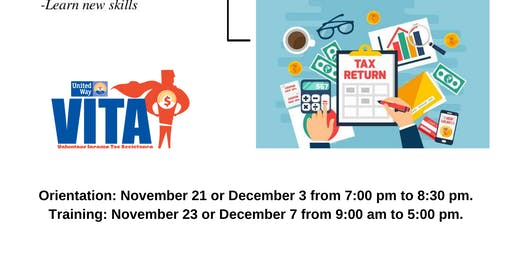VITA, Volunteer Income Tax Assistance Orientation & Training