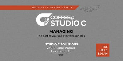 Coffee@StudioC: Managing