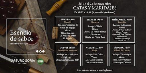 CATAS Y MARIDAJES GRATUITOS DE 6 BODEGAS EN ARTURO SORIA PLAZA
