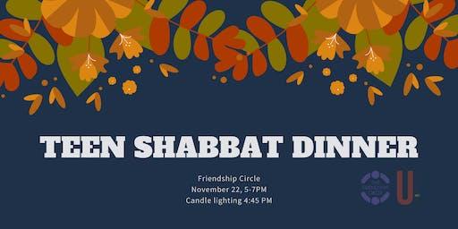 Teen Shabbat Dinner