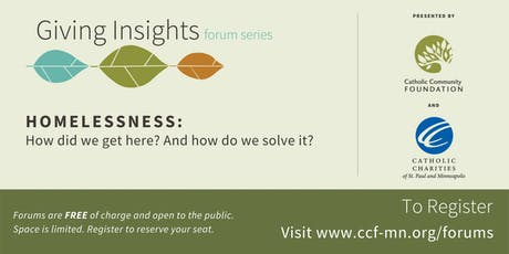 Giving Insights Forum: Homelessness tickets