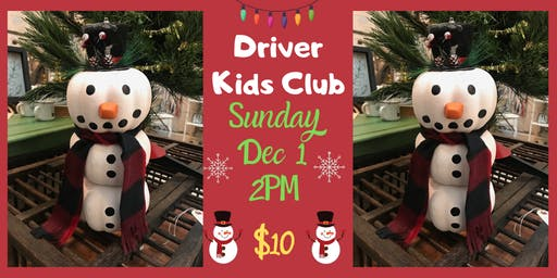 Driver Kids Club- I Want To Build A Snowman!