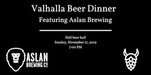 Valhalla Beer Dinner Series with Aslan Brewing