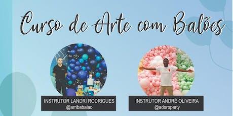 ARRIBA CURSO DE ARTE COM BALÕES ingressos
