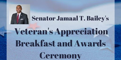 Senator Jamaal T. Bailey's Veteran's Appreciation Breakfast and Awards