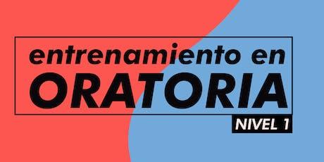 ENTRENAMIENTOS EN ORATORIA - NIVEL 1 - 2020 entradas