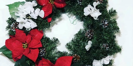 DIY Pine Poinsettia Wreath Workshop