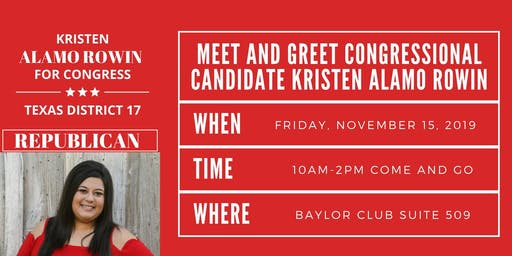 Meet and Greet Kristen Alamo Rowin