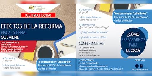 Conferencia Nuevas Reformas Fiscales y Penales 2020