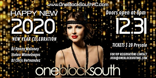 New Year's Eve 2020 at One Block South
