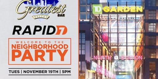 Rapid 7 Welcome to the Neighborhood Party