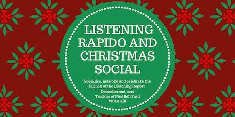 Listening Rapido & Christmas Social tickets