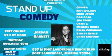 Stand Up Comedy Night with Jordan Garnett at McSorleys tickets
