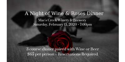 A Night of Wine & Roses Valentine's Dinner