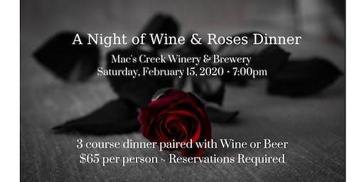 A Night of Wine & Roses Valentine's Dinner