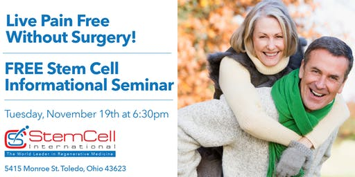 Pain Free Without Surgery: Free Stem Cell Informational Seminar