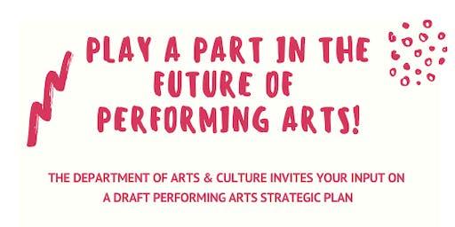 Performing Arts Strategic Plan Workshop
