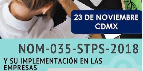 IFS-CDMX NOM 035 STPS Implementación en las empresas Mtro. Enrique Noris Barrera  tickets