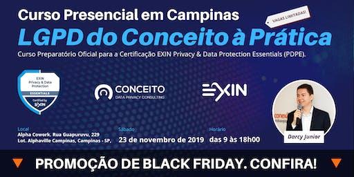 CURSO LGPD DO CONCEITO À PRÁTICA EM CAMPINAS - TURMA NOVEMBRO/19