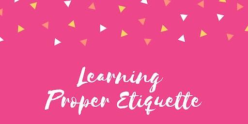 Etiquette Class!