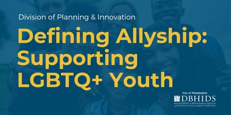 Defining Allyship: Supporting LGBTQ+ Youth tickets