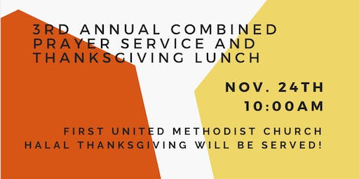 3rd Annual Combined Prayer Service and Thanksgiving Lunch