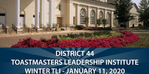 DISTRICT 44 TOASTMASTERS LEADERSHIP INSTITUTE -January 11, 2020