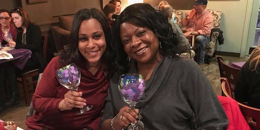 New Class! Join us for our Wine Glass Painting Party Workshop at The Romain Arts and Culture Community Center on 12/06 @ 6pm.