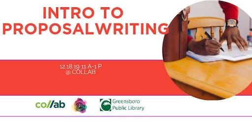 Intro to Proposal Writing