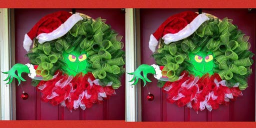 Grinch Wreath Making Party and Dinner- Medford Pop Shop