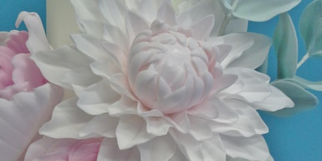 Cake Decorating Class - Unwired Peony, Dahlia & David Austin Rose in sugar tickets