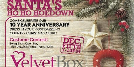 Santa's Ho Ho Hoedown 10 Year Anniversary tickets