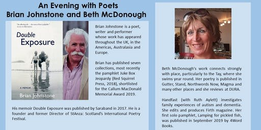 """An Evening with Poets Brian Johnstone and Beth McDonough"