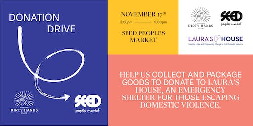 Donation Drive with Richer Poorer and SEED Peoples Market