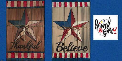 "Paint and Enjoy at American Legion, Wrightsville ""Patriotic Painting "" wood"