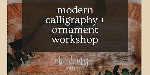 Modern Calligraphy + Ornament Workshop