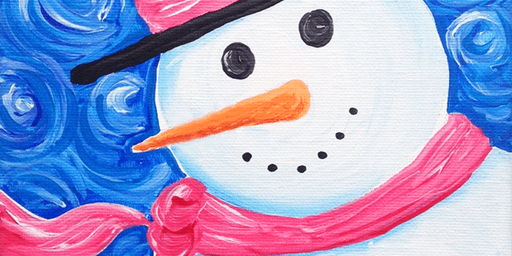 Family Event, Painting a Snowman for Kids & Adults by Expressive Brush Art Studio
