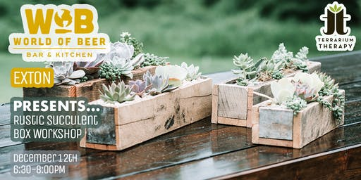 Rustic Succulent Box Workshop at World of Beer
