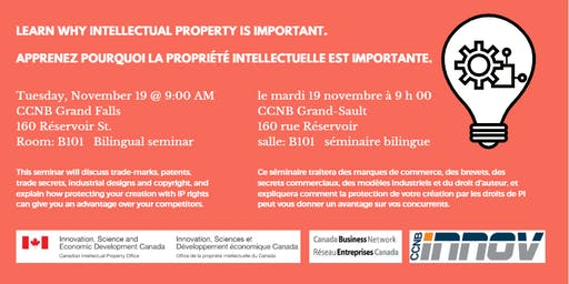 Learn About Intellectual Property/Formation sur la propriété intellectuelle