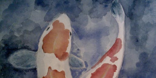 Watercolor Painting Workshop with Robin Shoup-Wilson:  KOI Fish