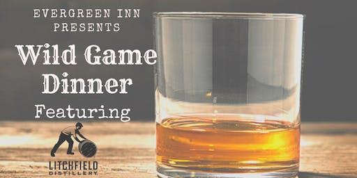 Evergreen Inn presents a Wild Game Dinner featuring Litchfield Distillery