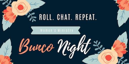 Women's Ministry Bunco Night