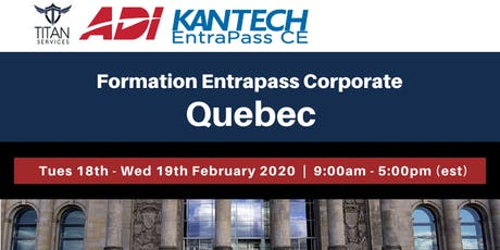 Formation Entrapass Corporate à Québec - ADI tickets
